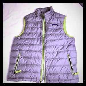 Cool Patagonia Vest for Boy 14 Grey Neon
